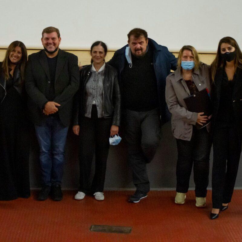 """I protagonisti della presentazione del docufilm """"A Viso Aperto"""", presso il Cinema Pax di Cinisello Balsamo"""