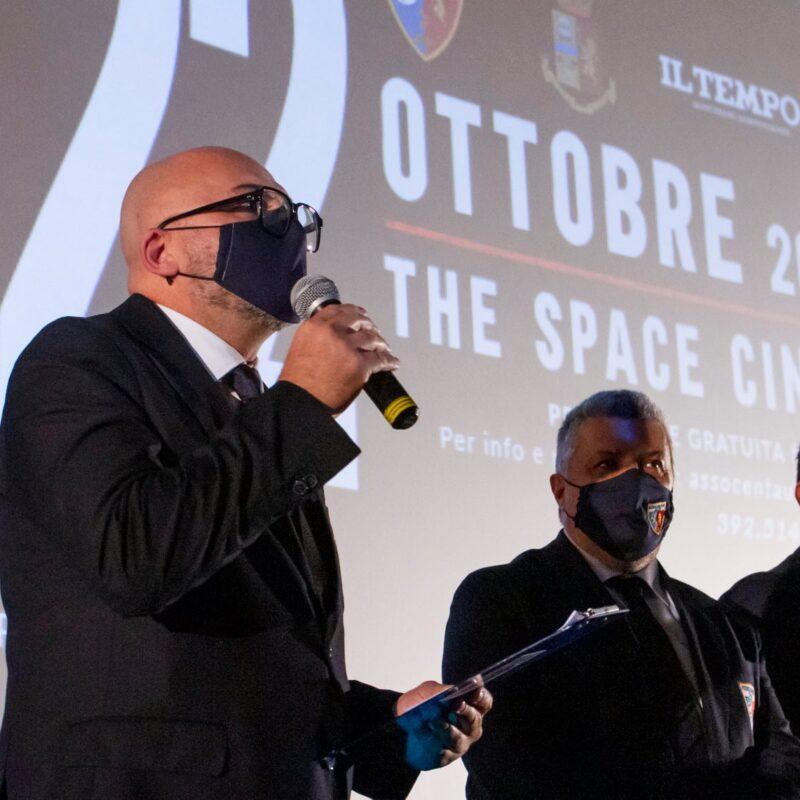 """Intervento di Mario Connola (Assocentauri Calcio ASD) durante la presentazione del docufilm """"A Viso Aperto"""""""