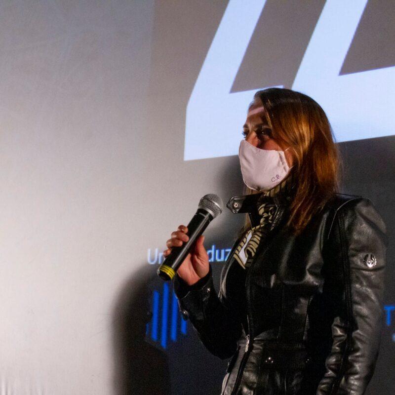 """Carla Ruocco (Deputata della Repubblica Italiana) durante la presentazione del docufilm """"A Viso Aperto"""""""