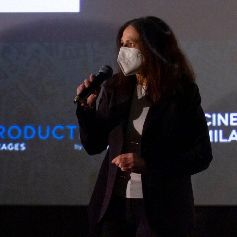"""Natascia Turato (autrice) durante la presentazione del docufilm """"A Viso Aperto"""""""