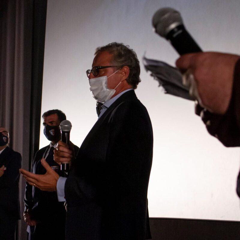 """Alessandro Grandinetti (Partner PwC Italia) durante la presentazione del docufilm """"A Viso Aperto"""""""