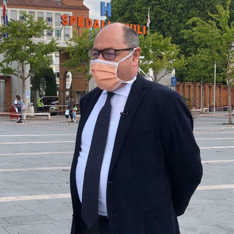 """Marco Trivelli (Direttore generale Spedali Civili di Brescia) durante le riprese del docufilm """"A Viso Aperto"""""""