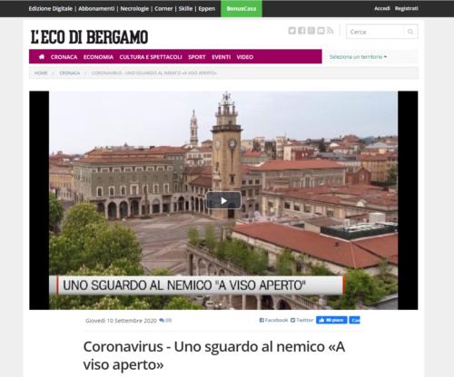 L'Eco Di Bergamo: Coronavirus - Uno sguardo al nemico «A viso aperto»