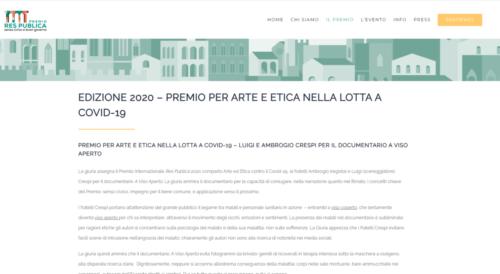 Premio Res Publica: EDIZIONE 2020 – PREMIO PER ARTE E ETICA NELLA LOTTA A COVID-19