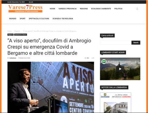"""Varese7Press: """"A viso aperto"""", docufilm di Ambrogio Crespi su emergenza Covid a Bergamo e altre cittá lombarde"""